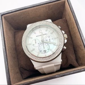 Michael Kors Bel Aire Chronograph White Watch NWT